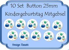 10 Set Button Monster Mitgebsel Kindergeburtstag von Jasuki auf DaWanda.com
