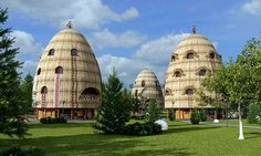 Wood, Clay & Grass-Thatched Eco-Hotel Looks Like A Fairytale Forest Village