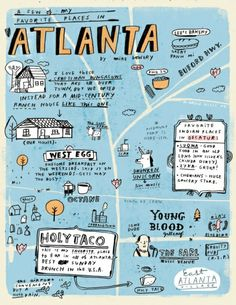 Atlanta!- Odds and Ends : MIKE LOWERY // illustration