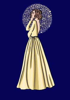 #illustration #fashionillustration #midnight #moon #dress