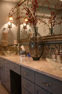 Glam bathroom remodel - eclectic - bathroom - austin - by Adentro Designs