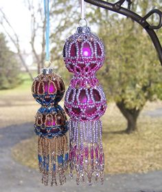 Wow, double drop beaded ornaments
