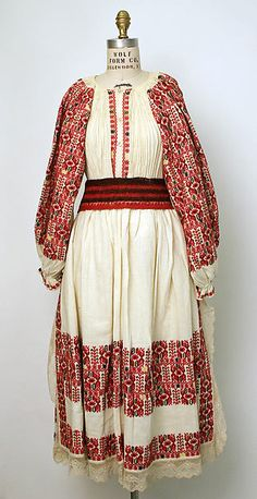Ensemble at Metropolitan Museum of Art. Date: century Culture: Croatian Medium: cotton, wool, silk Tribal Costume, Folk Costume, Embroidery Fashion, Folk Embroidery, Ladies Day, Traditional Dresses, Beautiful Outfits, Vintage Outfits, Style Inspiration