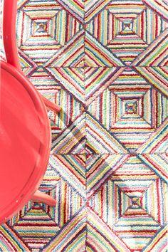Dash and Albert Rugs Cotton Micro-Hooked Kaledo Bright Rug