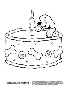 happy birthday coloring page - Clifford Puppy Days Coloring Pages