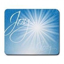 Christmas Joy and Bright Star Large Mousepad