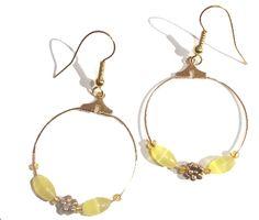 Sooz In The Shed...: Simple Beaded Hoop Earrings