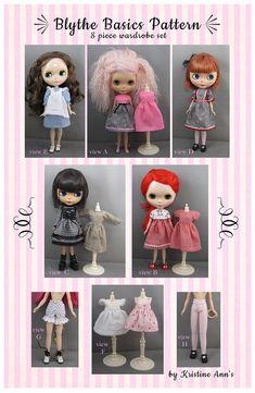 Blythe Doll Pattern for a Wardrobe of Basic Dresses