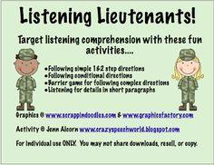 Crazy Speech World: Listening Lieutenants!