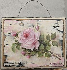 Original Painting - Roses & Buds - Postage is included Australia Wide