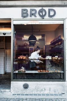 A tiny bakery in the popular and hip neighbourhood Vesterbro, Copenhagen.