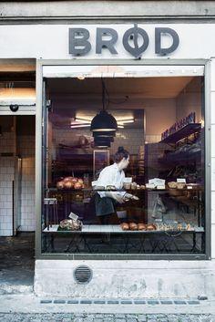 A tiny bakery in the popular and hip neighbourhood Vesterbro, Copenhagen.