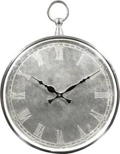 Ren Wil CL203 Bryony Analog Wall Clock with Roman Numerals Nickel Home Decor Clocks Wall Clocks
