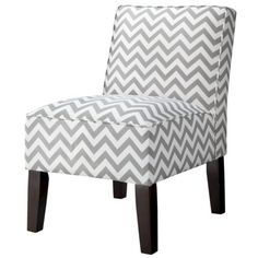 Burke Slipper Chair-Chevron...would love this as an accent chair for our bedroom
