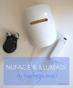 star wars inspired beauty devices - do they work? nuface and illumask beauty tools facial microcurrent device and light therapy red blue led face mask