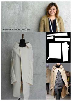 Coat Patterns, Clothing Patterns, Dress Patterns, Sewing Patterns, Patterns Of Fashion, Pattern Fashion, Fashion Terminology, Barbie Vintage, Pattern Draping