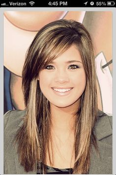12 Fantastic Long Hairstyles With Bangs Layered Hair Corte Y Color, Great Hair, Hair Today, Pretty Hairstyles, Long Hairstyles With Bangs, Layered Hairstyle, Fringe Hairstyles, Cut And Color, Hair Dos