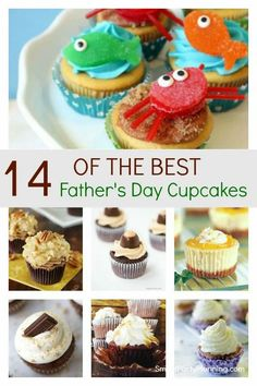 Delicious selection of easy father's day cupcakes that dad will absolutely love. With different flavors and toppers, there is something to suit all tastes, including ones that the kids will enjoy too.  These treats will be perfect for spoiling dad on father's day. Fathers Day Cupcakes, Fathers Day Cake, Birthday Cupcakes, Dad Birthday, Food Cakes, Cupcake Cakes, Cup Cakes, Cake Recipes, Dessert Recipes
