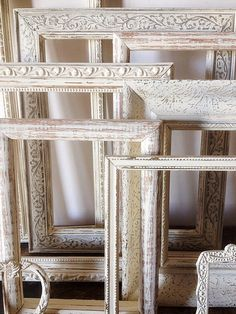 Empty Picture Frame Set Of 9 Antique White Shabby Chic Wall Decor