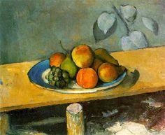 1880 Manzanas, melocotones y uvas