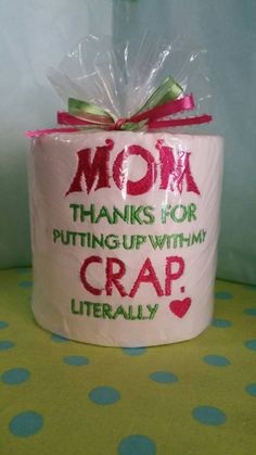 Custom Embroidered Mother's Day Paper Makes a by TootsiesGirls