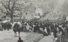 Colder weather has returned to Gettysburg, which reminds us of this November 19th, 1863 image. Bundled up Gettysburgians can be seen watching the procession down Baltimore Street towards the new Soldiers' National Cemetery