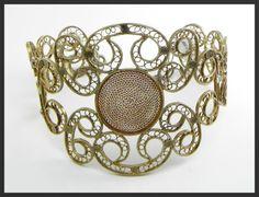 Bracciale filigrana  in argento brunito di GioielliOliveri su Etsy Silver Filigree, Bracelets, Etsy, Quilling, Bangle Bracelets, Bracelet, Bangle, Arm Bracelets, Bangles