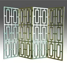 Luxe 4-Panel Room Divider - Silver Foil Finish at www.dcgstores.com - Sales $1,399.00