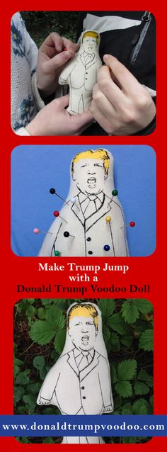 You're not ready for 2017 unless there's a Donald Trump Voodoo Doll in your pocket! Comes with five pins, stuffed with fiberfill just like the real Donald. Makes a great gift.  Where will you give him a poke first?!