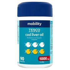 R3212 402521 Tesco Cod Liver Oil 1000Mg 90S