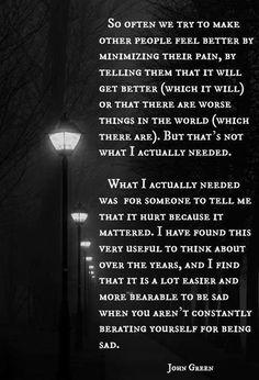 It hurt because it mattered.