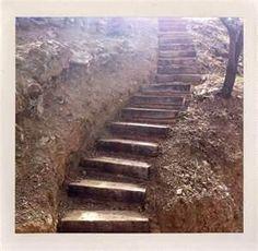 Image detail for -Preparing railway sleeper garden steps