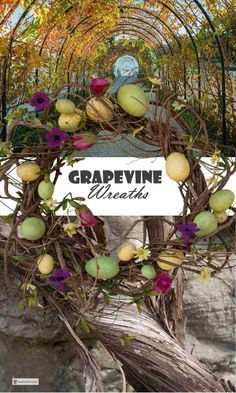 Grapevine Wreaths are beautiful, rugged, and rustic, yet can take their place in classic settings with perfect ease; Modern Rustic Decor, Rustic Crafts, Country Crafts, Eclectic Decor, Grapevine Garland, Country Casual, Types Of Colours, Garden Junk, Target Home Decor