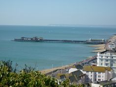 Hastings Pier. Built 1872, damaged by storms in 1990, destroyed by fire in 2010.