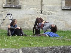 Eoin Macken seems able to sleep anywhere, and there's Tom Hopper with his girlfriend