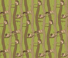Squirrel Away fabric by jmckinniss on Spoonflower - custom fabric