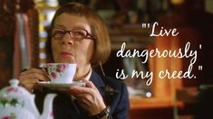 Live dangerously...with a cup of tea, clearly!  How To Be Successful According To Henrietta Lange: A Legend's Guide - CBS.com