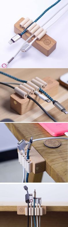 Cable Management System for Power Cords and Charging Accessory Cables