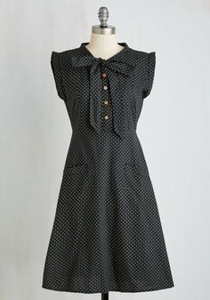 Carry On with Confidence Dress in Dots by Mata Traders - Black, Polka Dots, Print, Pockets, Work, Eco-Friendly, Fit & Flare, Sleeveless, Woven, Better, Long