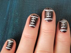 football nails DIY