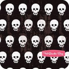 Geekly Chic Black Skulls Yardage SKU# C511-03
