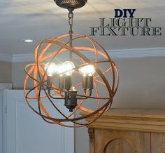 light fixture upcycle thrift, lighting, repurposing upcycling