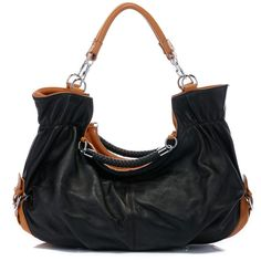 """Designer Inspired""  Black Italian Leather Tote Bag https://largepurseshop.com/collections/ladies-leather-handbags/products/designer-inspired-black-italian-leather-tote-bag"