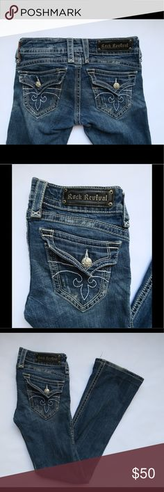 Rock Revival jeans sz 27 x 31 Gwen boot Pre loved good condition.#dj42 Rock Revival Jeans Boot Cut