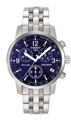 Tissot PRC 200 Men's Blue Quartz Chronograph Classic Watch