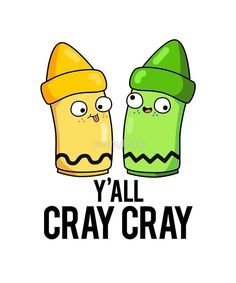 Yall Cray Cray Art Pun Sticker - Pun Shirts - Trending Pun Shirts for sales. #punshirts #shirts #tshirts -