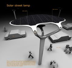 Solar Street is an energy saving concept for public spaces. The system includes street lamps, bus stops, phone booths and ATMs. New Energy, Solar Energy, Save Energy, Urban Furniture, Street Furniture, Modern Farmhouse Lighting, Living Room Light Fixtures, Solar Street Light, Green Technology