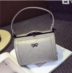 Find More Top-Handle Bags Information about sweet lady bow handbag women popular…