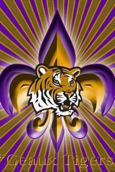 Fleur De Lis....Geaux Tigers!