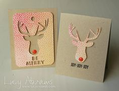 Studio Calico December Card Kit - Blue Note - Reindeer Mini Cards